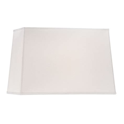 white rectangle l shade large rectangle l shade in white linen fabric with