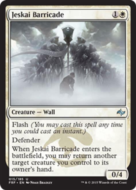 mtg deck definition jeskai barricade fate reforged gatherer magic the