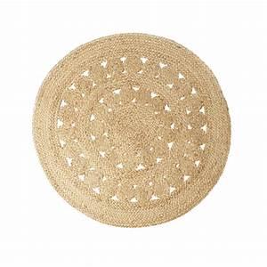 tapis rond en jute fleurs le joli shop With tapis ronds ikea