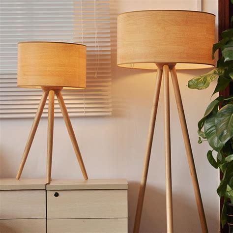 Tripod Wooden Floor Lamp   Light Fixtures Design Ideas