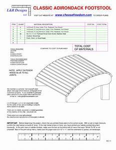Wood Adirondack Footrest Plans - Blueprints PDF DIY