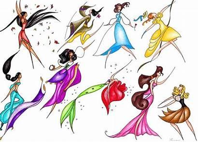 Disney Fan Pocahontas Mulan Jasmine Belle Princesses