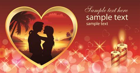 romantic valentine day theme background vector