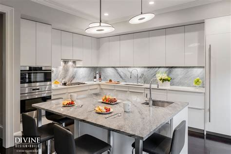 espresso kitchen island a modern kitchen design in boston s south end
