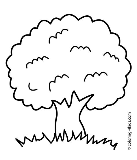 coloring page children  tree coloring home