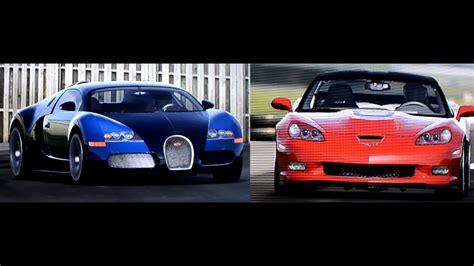 Bugatti Veyron Vs Corvette Zr1 On Top Gear Track