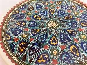 Hand, Painted, Ceramic, Decorative, Plate, With, Islamic, Koranic