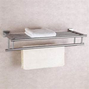 Best wall shelf organizer with towel bar reviews for Where to put towel bar in small bathroom
