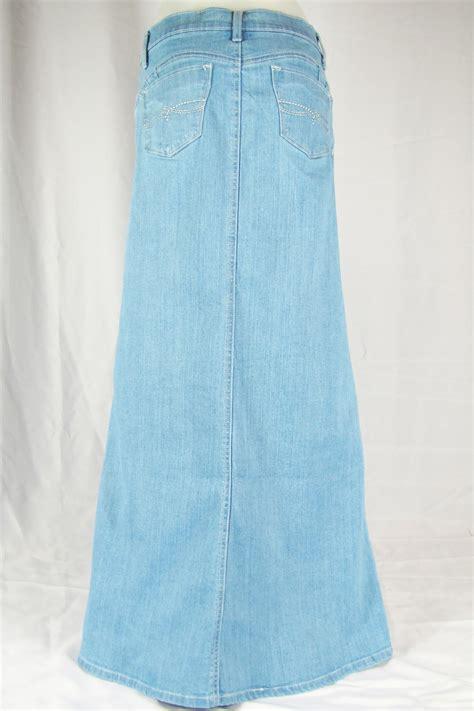 light blue jean skirt womens