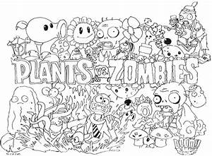 Plants Vs Zombies Coloring Pages For Kids Coloring Pages