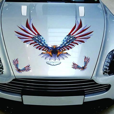 car decal flying hawk auto truck hood side eagle usa