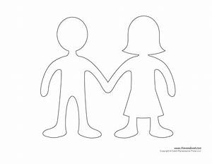 Printable paper doll templates make your own paper dolls for Person template preschool