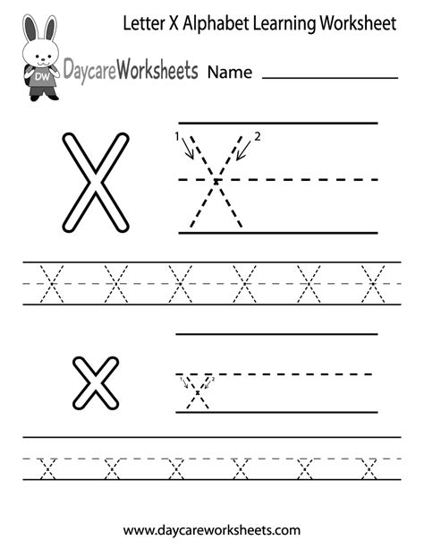 letter x worksheets for pre k free letter x alphabet learning worksheet for preschool