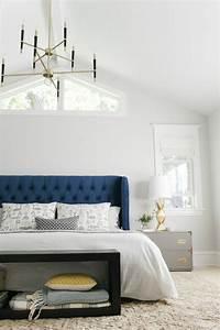 Tete De Lit Bleu : la t te de lit originale en 46 photos ~ Premium-room.com Idées de Décoration