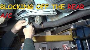Installing Rear A  C Block Off