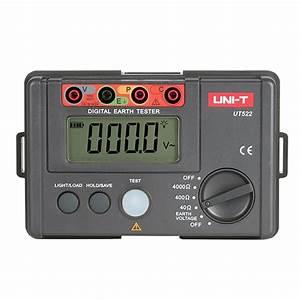Uni T Ut522 Digital Earth Ground Resistance Tester Manual
