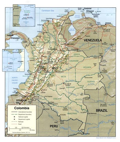 colombia maps perry castaneda map collection ut