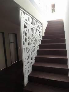 Garde Corp Escalier : garde corps d 39 int rieur en bois panneaux pour ~ Dallasstarsshop.com Idées de Décoration