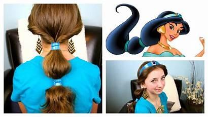 Disney Hairstyles Jasmine Hair Tutorial Easy Princess
