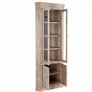 Armoire D Angle : armoire d 39 angle 4 portes bois blanchi 61x61x195cm maison et styles ~ Teatrodelosmanantiales.com Idées de Décoration