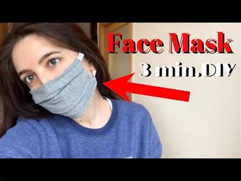 face mask  sewing machine   shirt  easiest diy