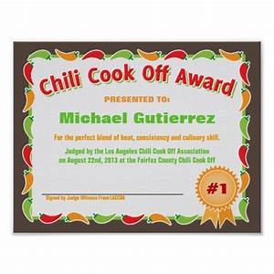certificate template category page 10 efozacom With chili cook off award certificate template
