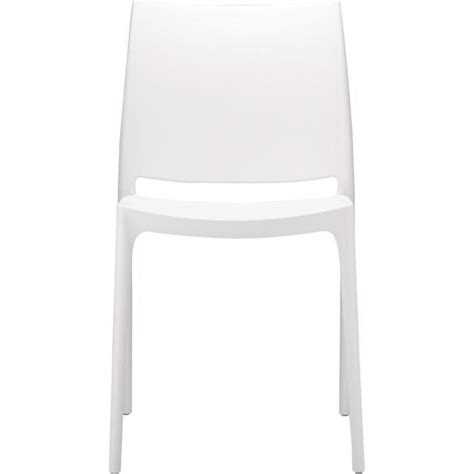 chaise blanche achat vente chaise salle a manger