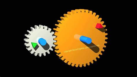 gears animation showing  gear wheels youtube