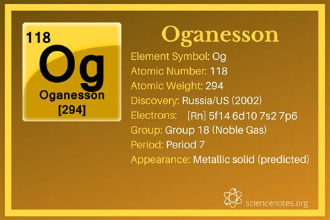 Oganesson Facts - Element 118