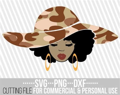 You can copy, modify, distribute and perform the work, even for commercial purposes, all without asking permission. Black Woman with big hat svg, Melanin, camo svg, Army ...