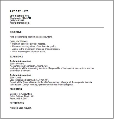 junior accountant resume exle free templates collection