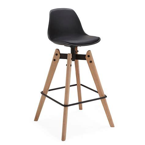 tabouret de bar fixe noir gati consoles tables chaises chaises tabourets d 233 coration