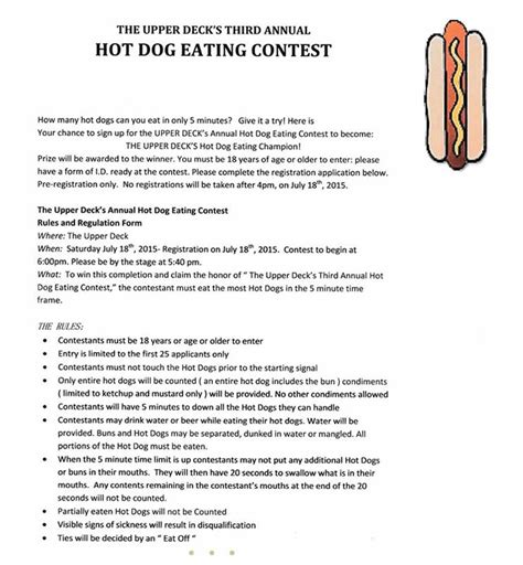 hot dog eating contest 2015 the upper deck
