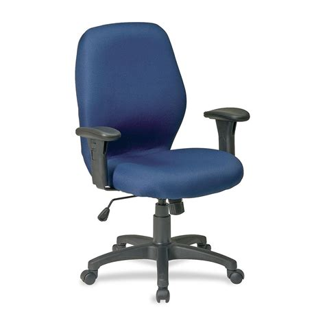 lorell high performance ergonomic chair with arms blue