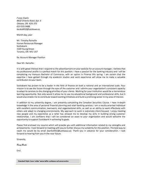 Cover Letter by Cover Letter Telfer School Of Management