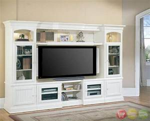 hartford 4 piece traditional vintage white wall unit tv With images for tv wall units