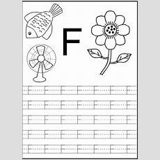 Letter F Worksheet For Preschool And Kindergarten  Alphabet And Numbers Learning Alphabet