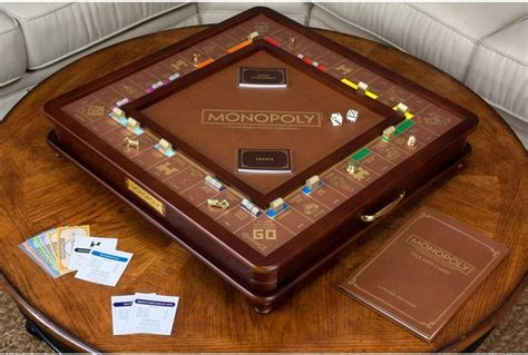 winning solutions monopoly luxury edition wooden board