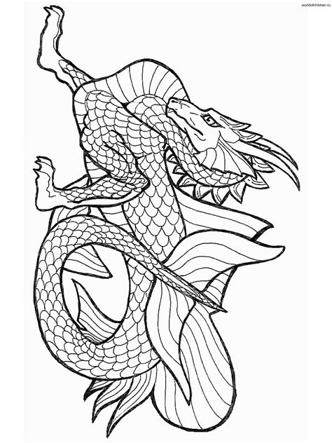 chinese dragon coloring pages    print