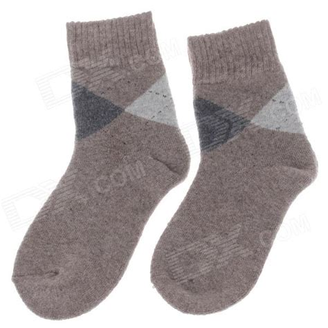 mens light brown socks winter casual men 39 s thickened warmer rabbit wool cotton