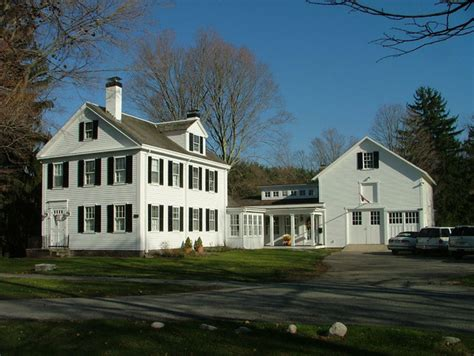 federal style home plans new link between historic house and barn