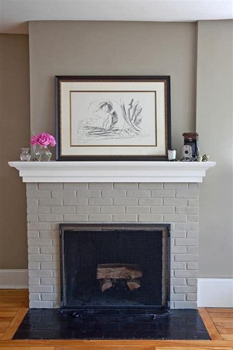 grey brick fireplace