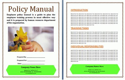 procedures manual template costumepartyrun