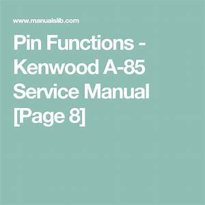 Pin Functions