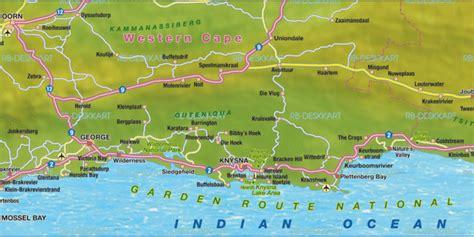 karte von garden route region  suedafrika welt atlasde