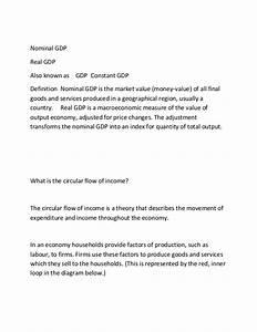 Nominal Gdp  Circular Flow Of Income