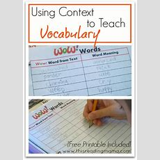 Free Printable Using Context To Teach Vocabulary  Free Homeschool Deals