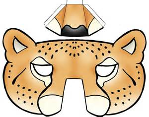 s day food gifts kids masks template animals leopard 3d nose