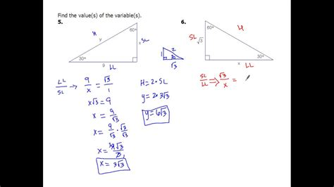 7-4d Solving 30-60-90 Special Right Triangles