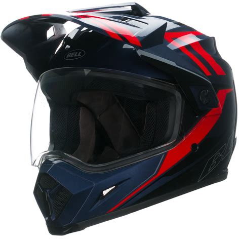 red motocross helmet bell mx 9 adventure barricade red motocross helmet quad